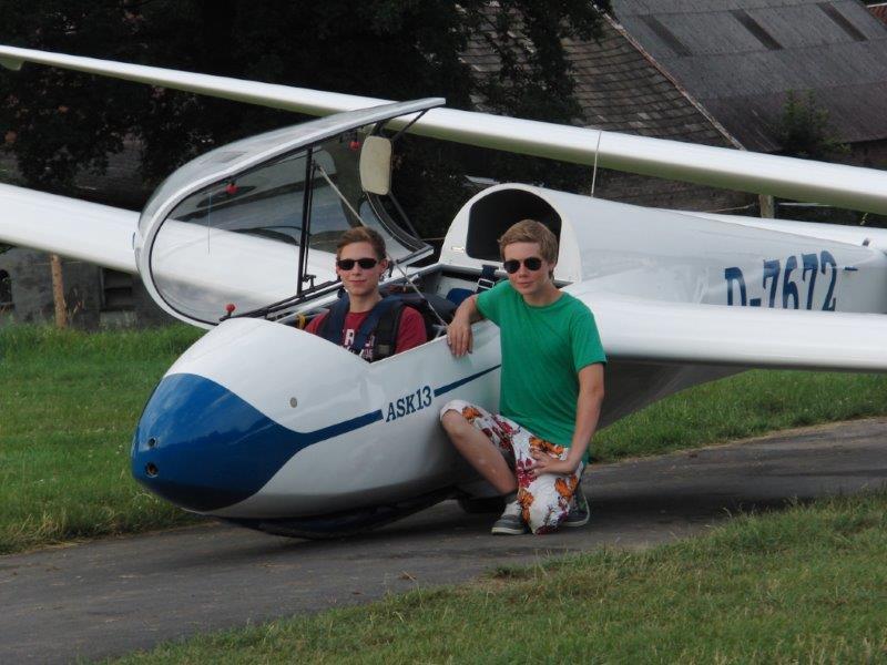 Freiflüge von Leon und Frederik
