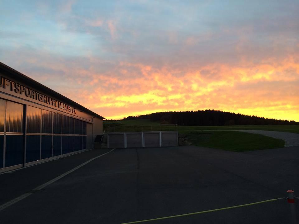 Sonnenuntergang Halle